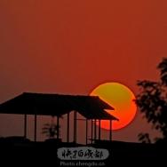 锦西观夕阳