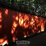 红墙上的光影...