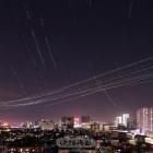 繁忙的蓉城夜空