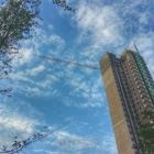 少有的蓝天