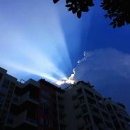 小区的天空